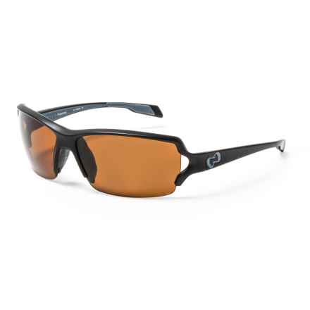 Native Eyewear Blanca Sunglasses - Polarized in Matte Black/Brown - Closeouts