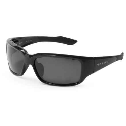 Native Eyewear Bolder Sunglasses - Polarized in Gloss Black/Gray - Closeouts