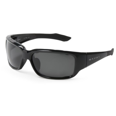 Native Eyewear Bolder Sunglasses - Polarized in Gloss Black/Gray
