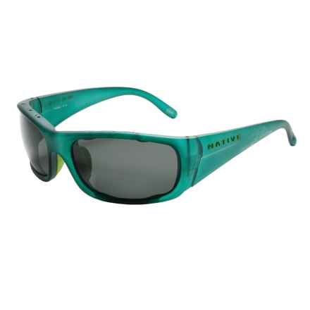 Native Eyewear Bomber Sunglasses - Polarized in Evergreen Frost/Gray - Overstock