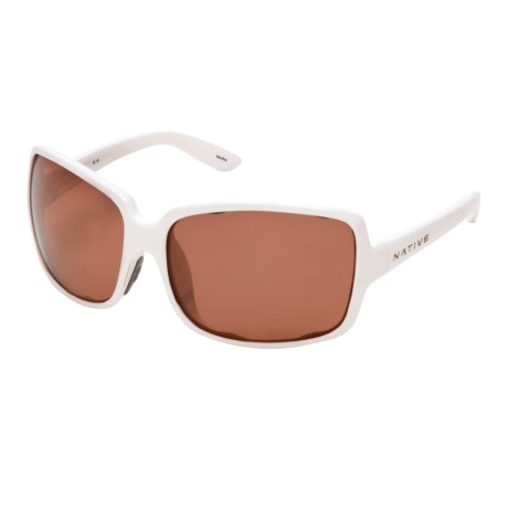 Native Eyewear Clara Sunglasses - Polarized, Interchangeable (For Women) in Snow/Copper