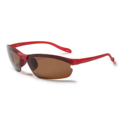 Native Eyewear Dash XP Sunglasses - Polarized in Red Frost/Brown - Closeouts
