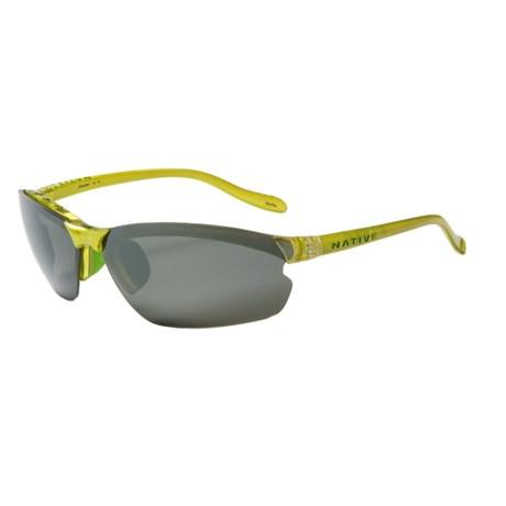 Native Eyewear Dash XP Sunglasses - Polarized Reflex Lenses, Interchangeable in Metallic Fern/Silver Reflex