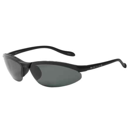 Native Eyewear Dash XR Sunglasses - Polarized Photochromic Lenses in Matte Black/Gray - Closeouts