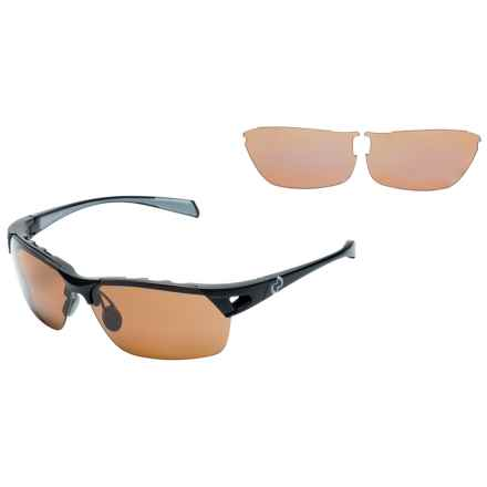 Native Eyewear Eastrim Sunglasses - Polarized, Extra Lenses in Asphalt/Brown - Overstock