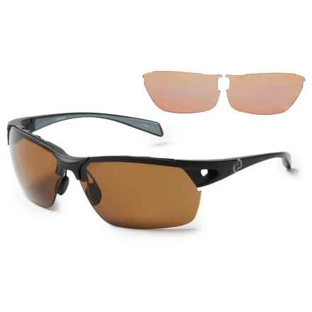Native Eyewear Eastrim Sunglasses - Polarized, Extra Lenses in Maple Tortoise/Matte Black/Brown - Overstock