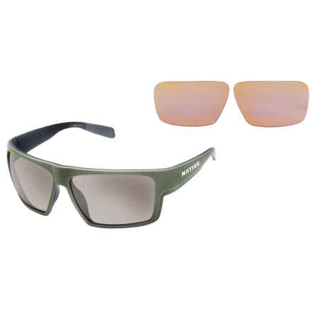 Native Eyewear Eldo Sunglasses - Polarized, Extra Lenses in Frasier Green Dark Gray/Silver Reflex - Closeouts