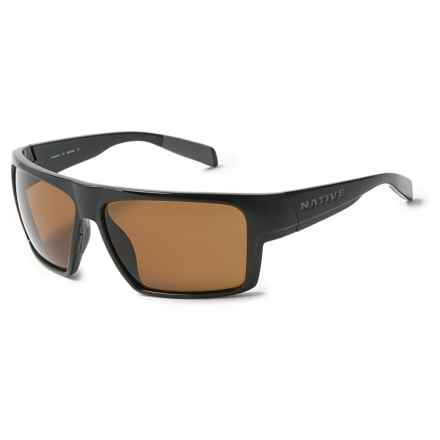 Native Eyewear Eldo Sunglasses - Polarized in Shiney Black/Dark Gray - Overstock