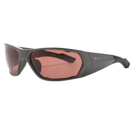 Native Eyewear Endo Sunglasses - Polarized, Extra Lenses in Gunmetal/Copper - Closeouts