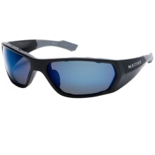 Native Eyewear Endo Sunglasses - Polarized Reflex Lenses, Interchangeable in Asphalt/Blue Reflex - Closeouts