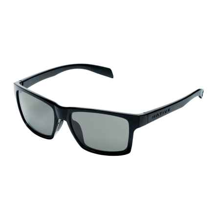 Native Eyewear Flatirons Sunglasses - Polarized in Gloss Black/Gray - Closeouts