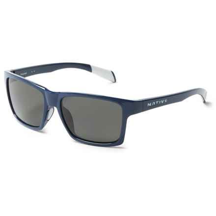 Native Eyewear Flatirons Sunglasses - Polarized in Midnight/Gray - Closeouts