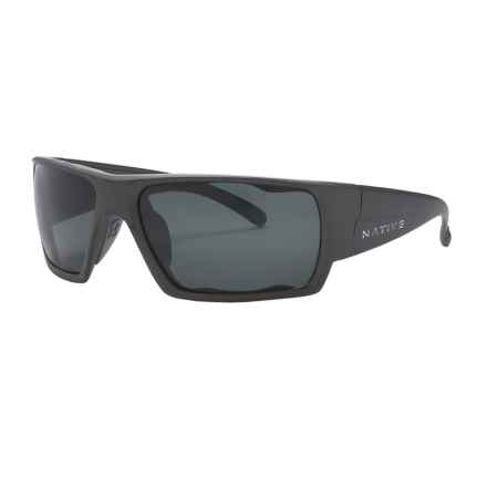 Native Eyewear Gonzo Sunglasses - Polarized in Charcoal/Grey - Closeouts