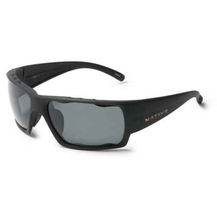 Native Eyewear Gonzo Sunglasses - Polarized in Matte Black/Gray - Closeouts