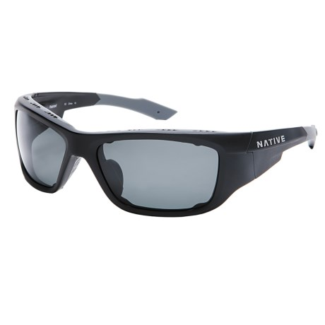 Native Eyewear Grind Sunglasses - Polarized, Interchangeable in Asphalt/Grey