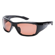 Native Eyewear Grind Sunglasses - Polarized, Interchangeable in Iron/Copper - Closeouts