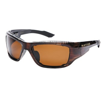 Native Eyewear Grind Sunglasses - Polarized, Interchangeable in Wood/Brown