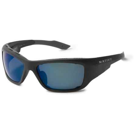 Native Eyewear Grind Sunglasses - Polarized Reflex Lenses, Extra Lenses in Matte Black/Blue Reflex - Closeouts