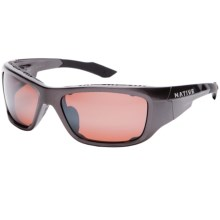 Native Eyewear Grind Sunglasses - Polarized Reflex Lenses, Interchangeable in Gunmetal/Copper Reflex - Closeouts