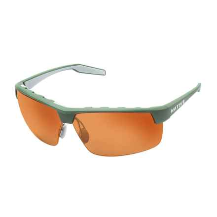 NATIVE EYEWEAR HARDTOP ULTRA XP SUNGLASSES W/ EXTRA LENSES - POLARIZED in Fraser Green Dark Gray/Brown - Closeouts