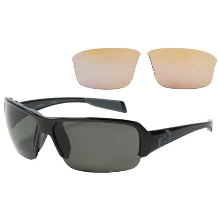Native Eyewear Itso Sunglasses - Polarized, Extra Lenses in Black/Gray - Overstock