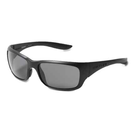 Native Eyewear Kannah Sunglasses - Polarized (For Women) in Matte Black/Gray - Closeouts