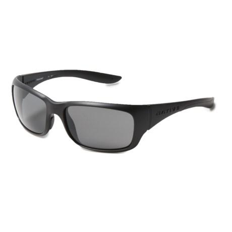 Native Eyewear Kannah Sunglasses - Polarized (For Women) in Matte Black/Gray