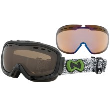 Native Eyewear Kicker Snowsport Goggles - Interchangeable Polarized Lenses in Asphalt/Iron/Amber - Closeouts