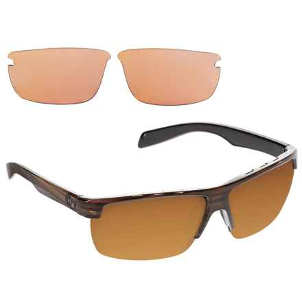 Native Eyewear Linville Sunglasses - Polarized, Extra Lenses in Wood/Brown - Closeouts