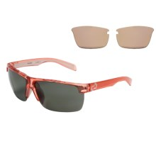 Native Eyewear Linville Sunglasses - Polarized, Interchangeable Lenses in Crystal Rose/Gray - Closeouts