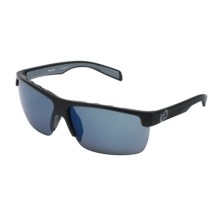 Native Eyewear Linville Sunglasses - Polarized Reflex Lenses, Interchangeable in Asphalt/Blue Reflex - Closeouts