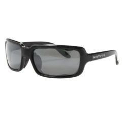 Native Eyewear Lodo Sunglasses - Polarized Reflex Lenses (For Women) in Iron/Silver Reflex