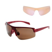 Native Eyewear Lynx Sunglasses - Extra Lenses in Red Frost/Brown - Closeouts