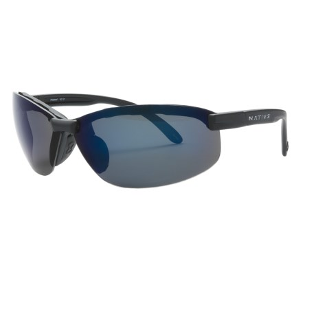 Native Eyewear Nano 2 Sunglasses - Polarized Reflex Lenses in Asphalt/Blue Reflex