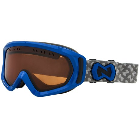 Native Eyewear Pali Snowsport Goggles - Polarized in Blue/Amber