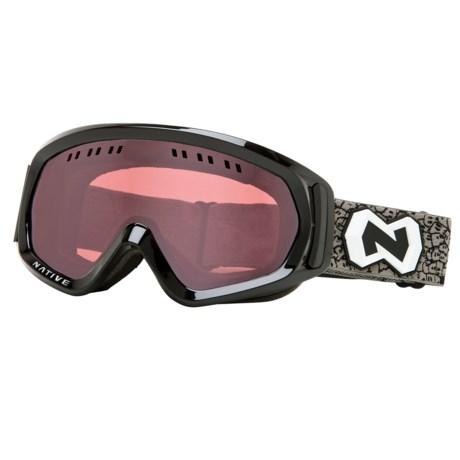 Native Eyewear Pali Snowsport Goggles - Polarized Reflex Lenses in Iron/Chrome Reflex