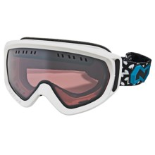Native Eyewear Pali Snowsport Goggles - Polarized Reflex Lenses in Snow/Chrome Reflex - Closeouts