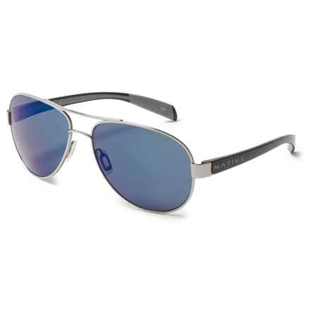 Native Eyewear Patroller Sunglasses - N3 Polarized Reflex Lenses in Chrome/Gloss Black/Blue Reflex - Overstock