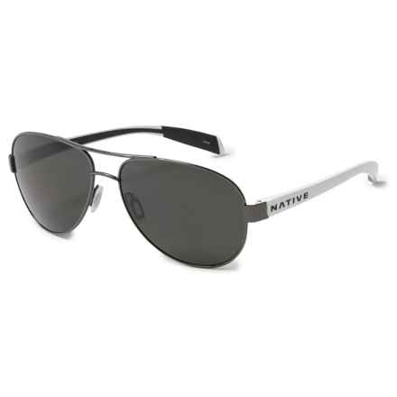 Native Eyewear Patroller Sunglasses - Polarized in Gunmetal White/Gray - Closeouts