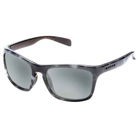 Native Eyewear Penrose Sunglasses - Polarized in Obsidian Dark Gray/Gray - Closeouts