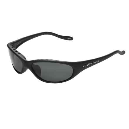 Native Eyewear Ripp XP Sunglasses - Polarized (For Men) in Matte Black Asphalt/Grey - Closeouts