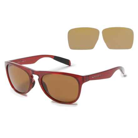 Native Eyewear Sanitas Sunglasses - Polarized in Crimson/Brown - Overstock