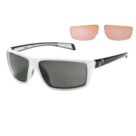 Native Eyewear Sidecar Sunglasses - Polarized, Extra Lenses in Snow Iron/Gray - Closeouts