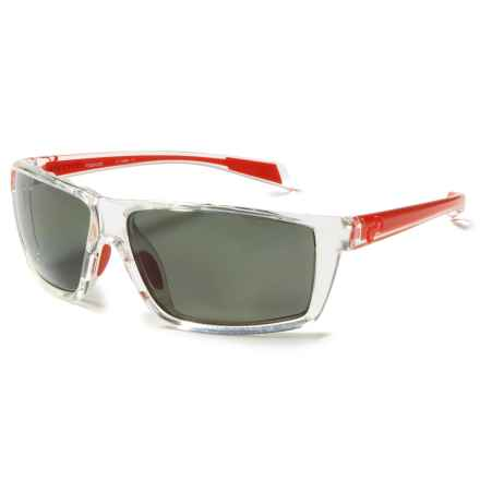 Native Eyewear Sidecar Sunglasses - Polarized in Crystal Red/Gray - Closeouts