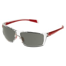 Native Eyewear Sidecar Sunglasses - Polarized Interchangeable Lenses in Crystal Red/Gray - Closeouts