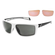 Native Eyewear Sidecar Sunglasses - Polarized Interchangeable Lenses in White Iron/Gray - Closeouts