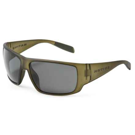 Native Eyewear Sightcaster Sunglasses - Polarized in Matte Moss/Gray - Closeouts