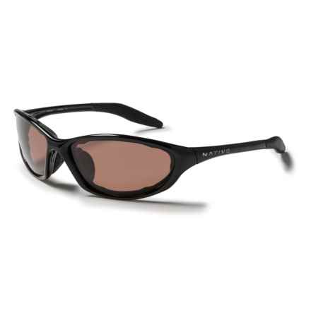 Native Eyewear Silencer Sunglasses - Polarized in Iron/Copper - Closeouts