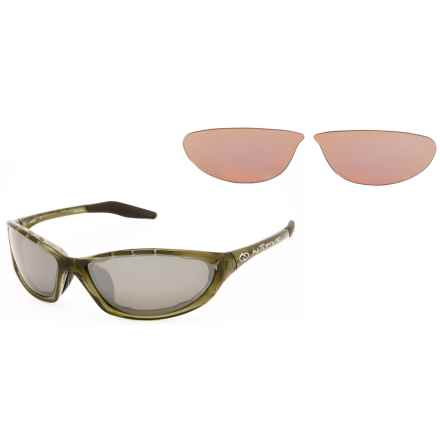 Native Eyewear Silencer Sunglasses - Polarized Reflex Lenses, Extra Lenses in Moss/Silver Reflex - Overstock