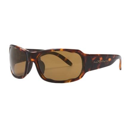 Native Eyewear Solo Sunglasses - Polarized Reflex Lenses (For Women) in Maple Tortoise/Bronze Reflex